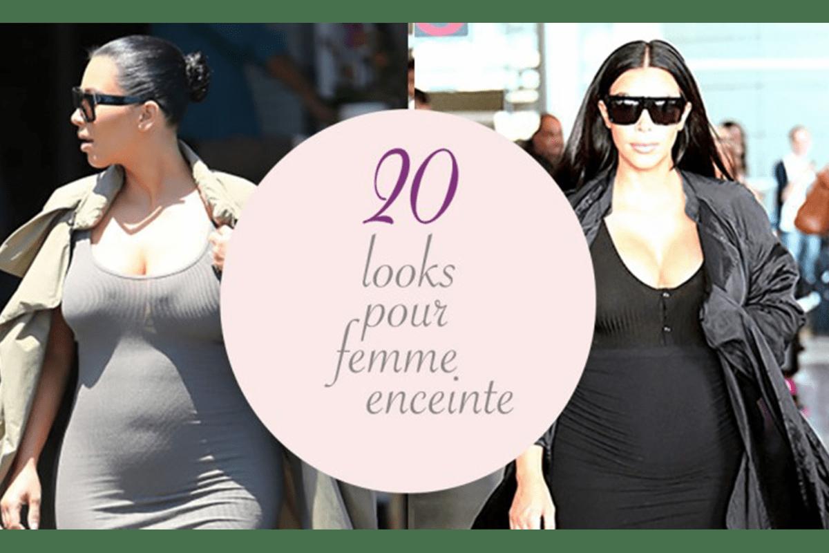 Read more about the article 20 looks pour femme enceinte   inspirés de Kim Kardashian