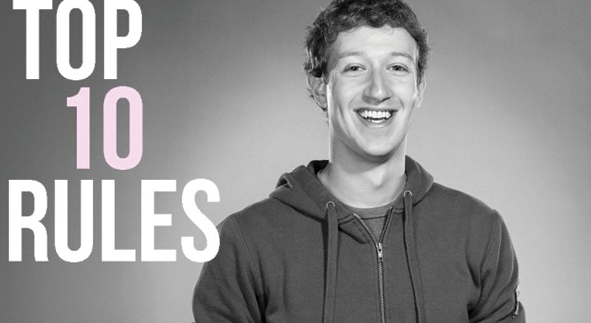 Read more about the article Les 10 règles du succès selon Mark Zuckerberg