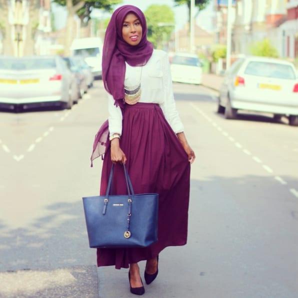 Célèbre 30 façons chic et élégante de porter son voile (hijab) UK32