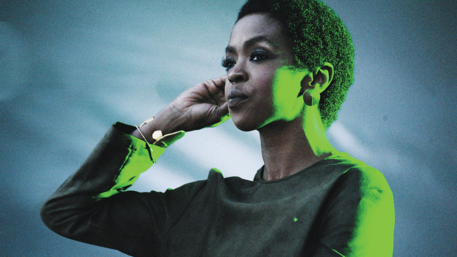 American singer Lauryn Hill performing in Moscow