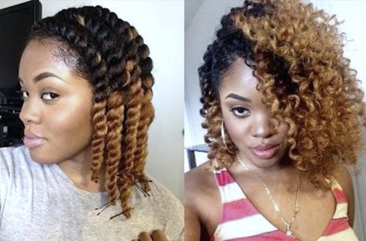 Twist Out Dry Curly Hair Cut