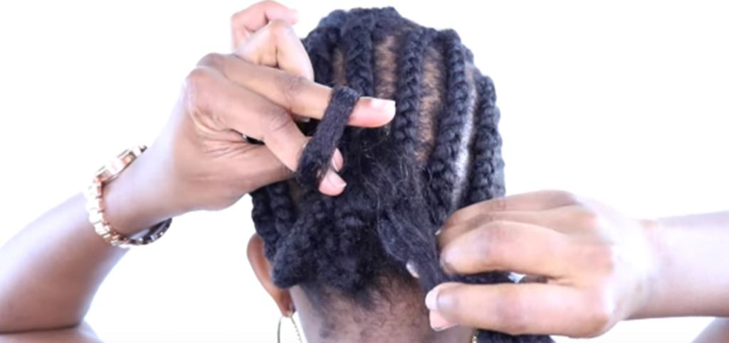 installation crochet braids 3