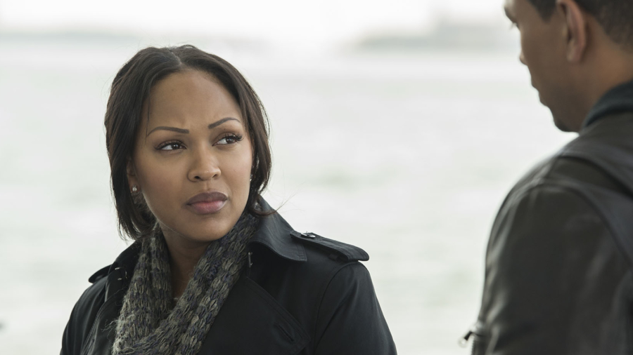 "DECEPTION -- ""One, Two, Three...One, Two, Three"" Episode 104 -- Pictured: (l-r) Meagan Good as Joanna Locasto, Laz Alonso as Will Moreno -- (Photo by: David Giesbrecht/NBC)"
