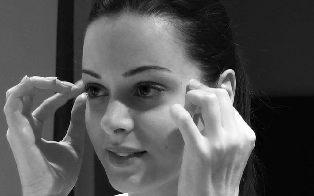 massage yeux