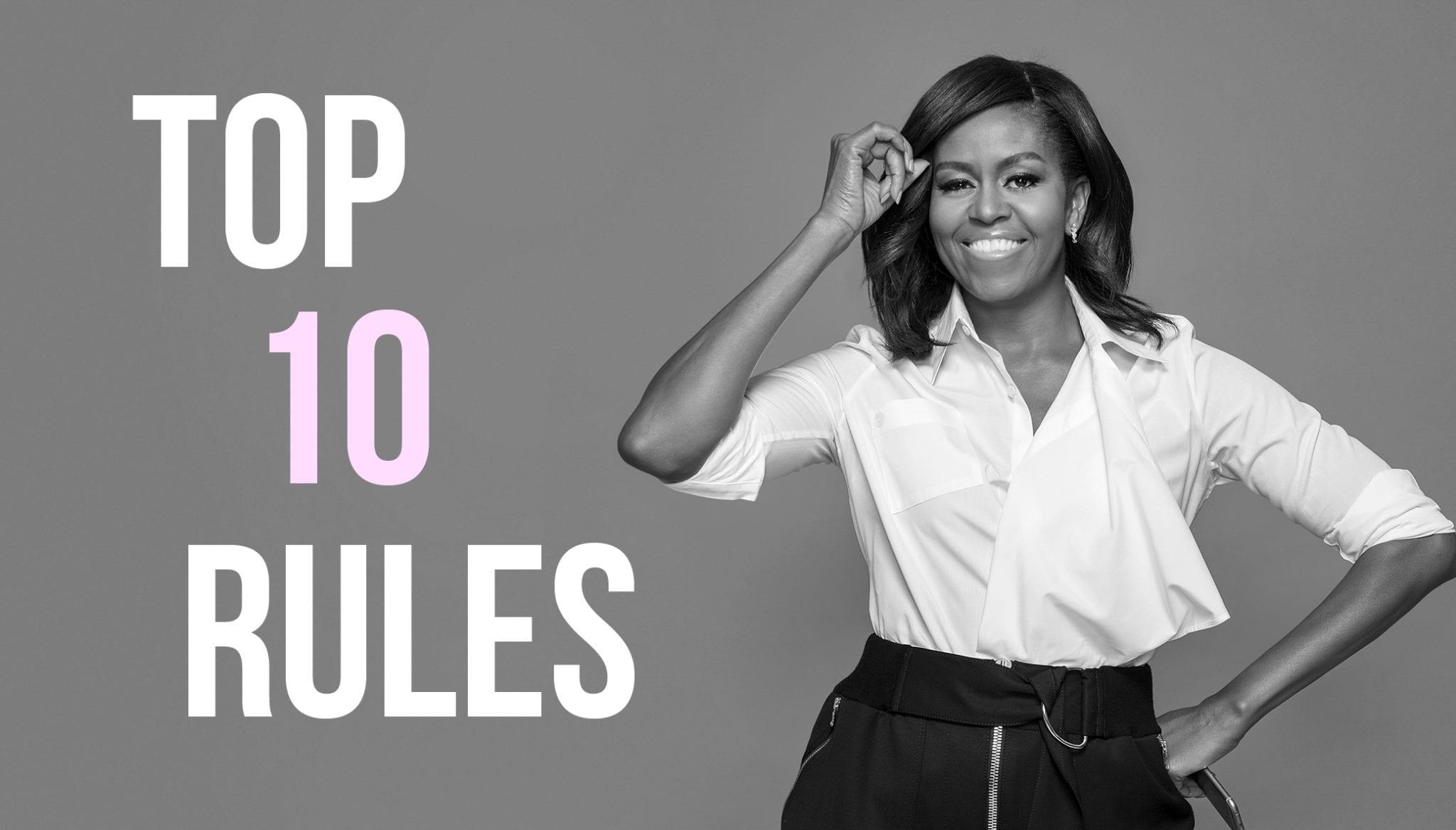 Les 10 Règles du Succès Selon Michelle Obama