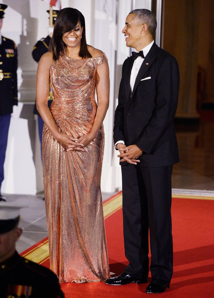 Barack and Michelle Obama host a State Dinner in honor of Prime Minister Matteo Renzi