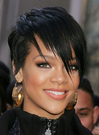 Jan 31, 2008 - New York, NY, USA - Singer RIHANNA arrives for the launch of 'Fashion Against AIDS' held at H&M 5th Avenue. (Credit: Nancy Kaszerman/eZuma