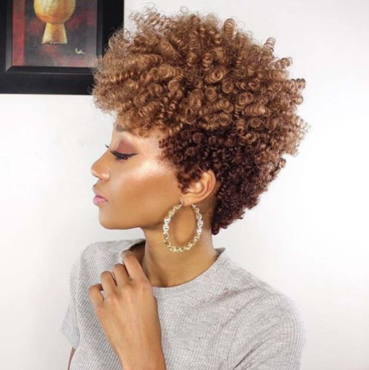 Coupe femme courte afro
