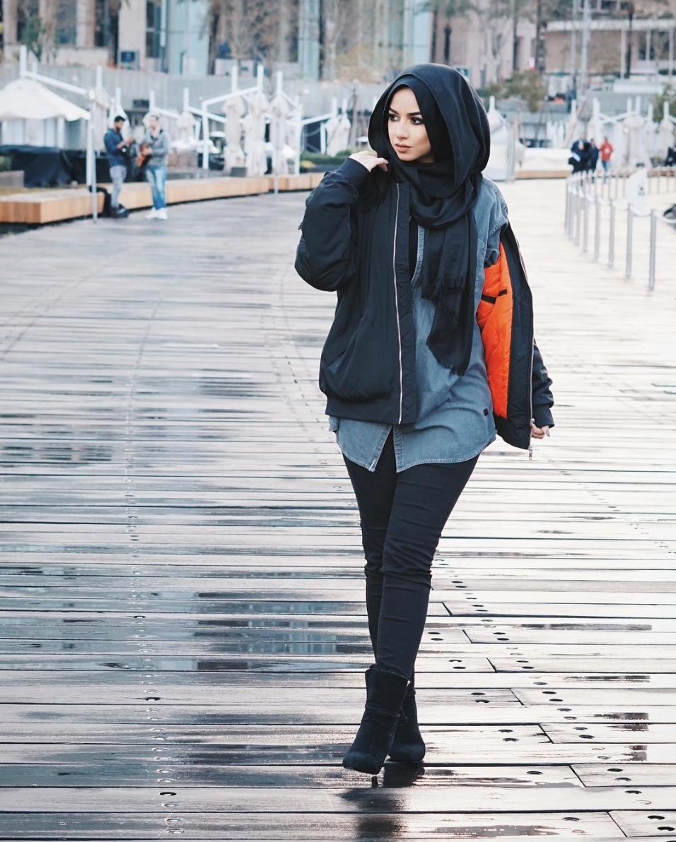 34 magnifiques looks pour porter son voile avec l gance - Style hiver 2017 ...