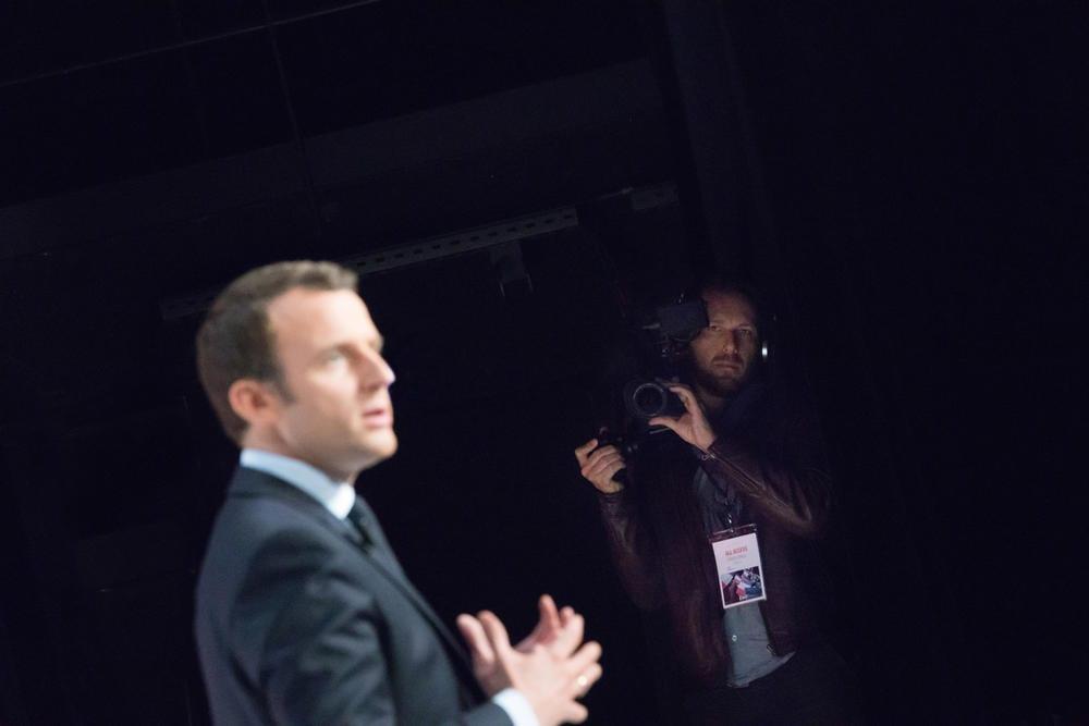 Macron sur scène