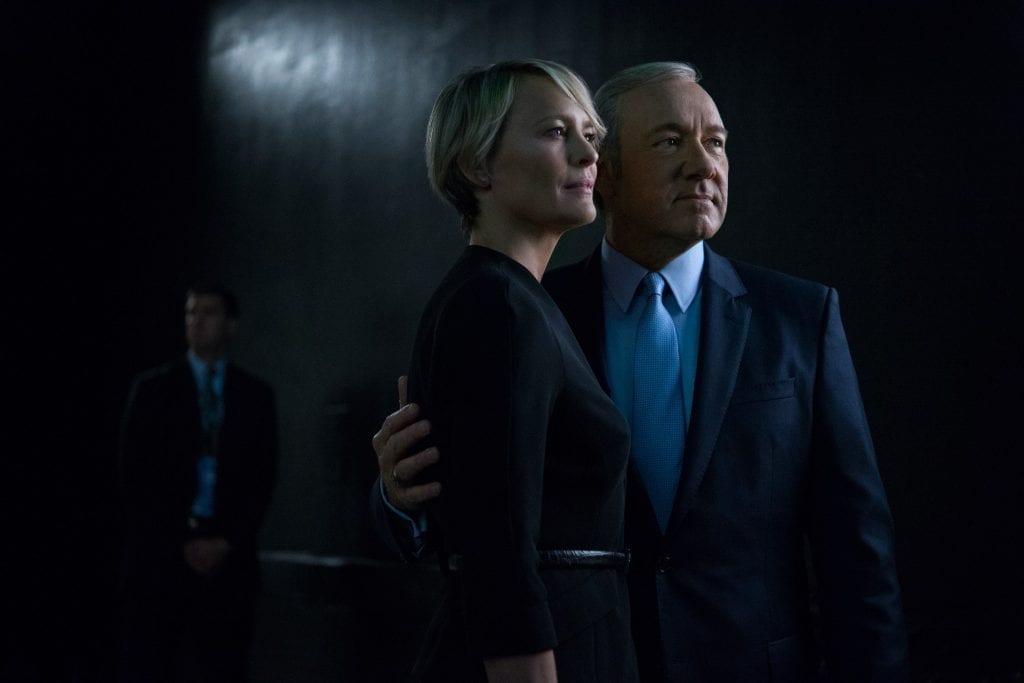 """Frank et Claire Underwood, le couple puissant de la série """"House of Cards"""" diffusée sur Netflix."""