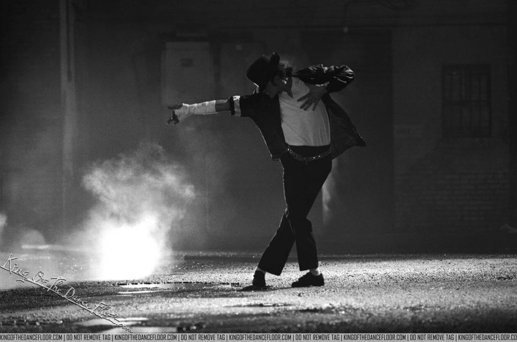 Michael Jackson, King of Pop, dancing