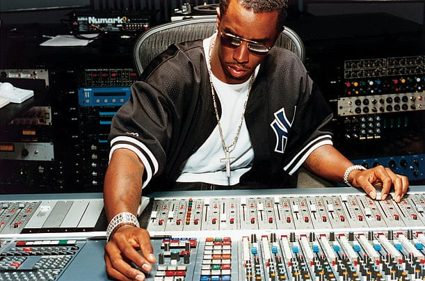 Sean Diddy Combs working in the studio