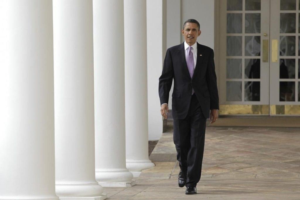 Barack Obama walking