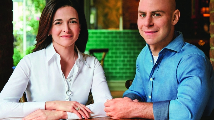 Sheryl Sandberg & Adam Grant. Photo: Matt Albiani